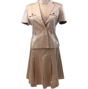 Calvin Klein 2 Piece Stretch Skirt Suit Pin …